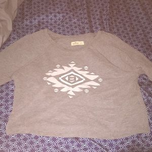 Hollister size large long sleeve gray crop top
